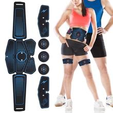 Умный ABS стимулятор мышц тренажер брюшной мышцы коврик для тренировки ног фитнеса массажеры электрожиросжигатель наклейки пояс