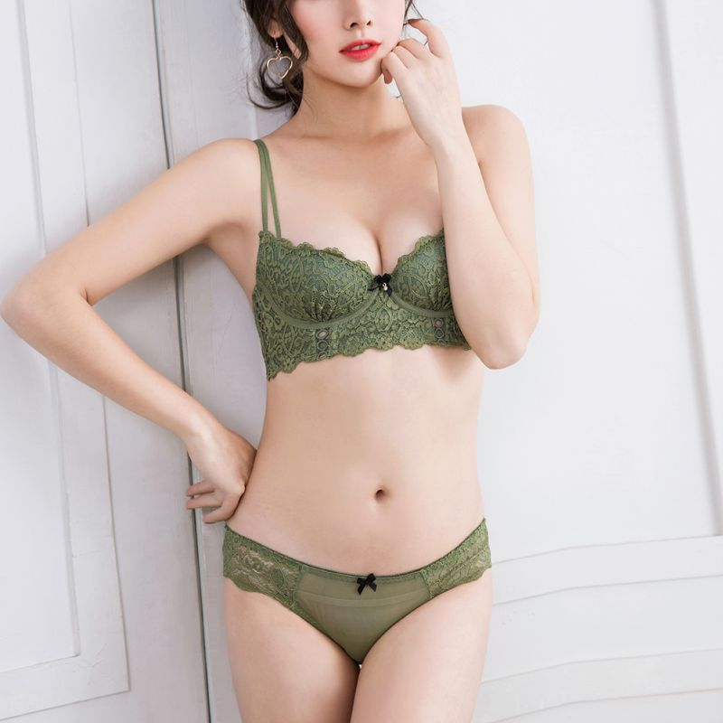 Fashion Sexy Lingerie Lace Comfort Brassiere Push Up   Bra   Sexy   Bra     Set   Embroidery Lingerie Underwear Women   Set