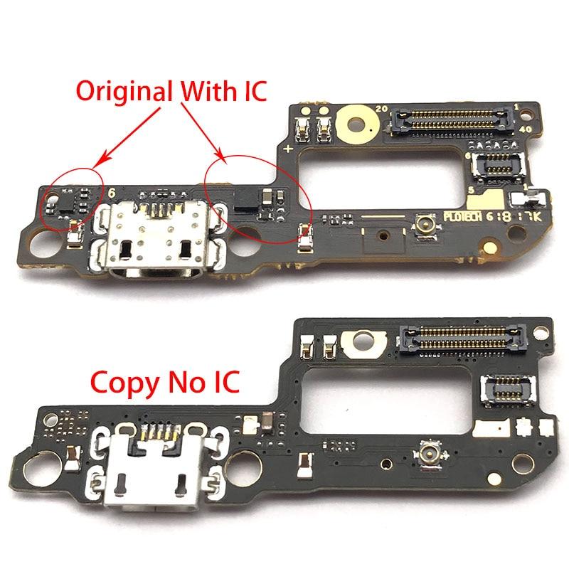 Original For Xiaomi Redmi 6 Pro / Mi A2 Lite USB Power Charging Connector Plug Dock Port Mic Microphone Flex Cable Board