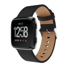 Yayuu Genuine Leather Replacement band wrist Watchband Strap Bracelet Belt For Fitbit Blzae/Versa 1/2 Smart Watch bands