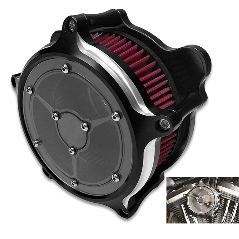 New Clarity Moto Air Filter Cleaner For Harley Sportster XL Touring Road King Ultra Softail Heritage Dyna Fat Bob 91-14 15 16 17