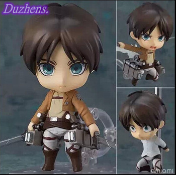 [In stock] Attack On Titan Eren Jaeger Q version figma PVC Action Figure Anime Figure Model Toys Figure Collection Doll Gift 1