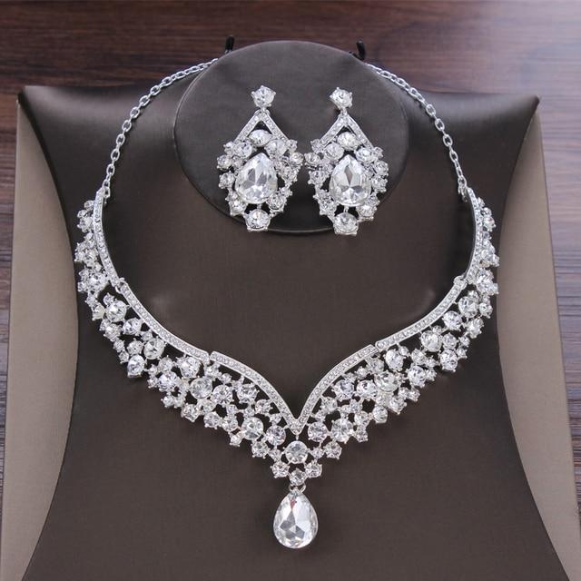 Baroque Crystal Bridal Jewelry Set 4