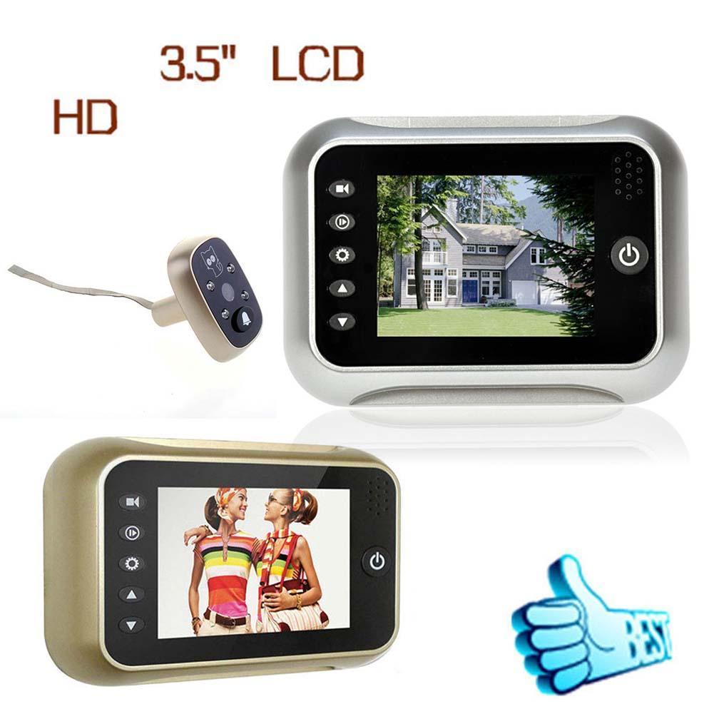 120° Vision LCD Digital Peephole View Door Eye Security Video IR Camera Silve