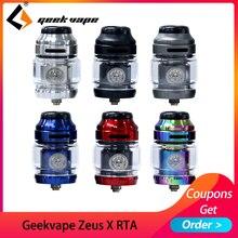 Big sale Geekvape Zeus X RTA 4.5ml tank 510 thread vape tank fit aegis mod vaporizer atomizer with DIY Tool coil цена