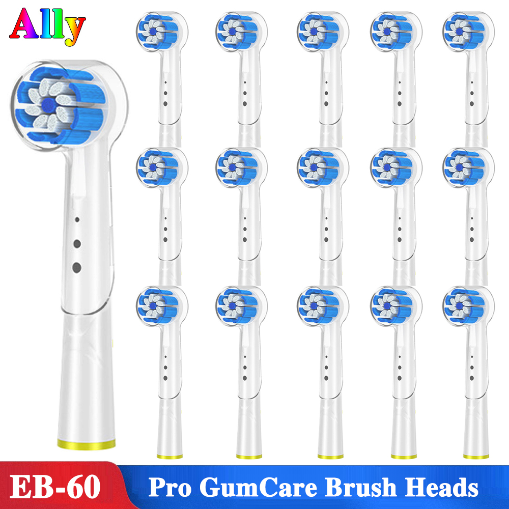 EB60 Pro Gum Care Replacement Brush Heads For Braun Oral B Trizone 600 1000 3000 5000 Triumph 5000 Smart Series toothbrus heads image
