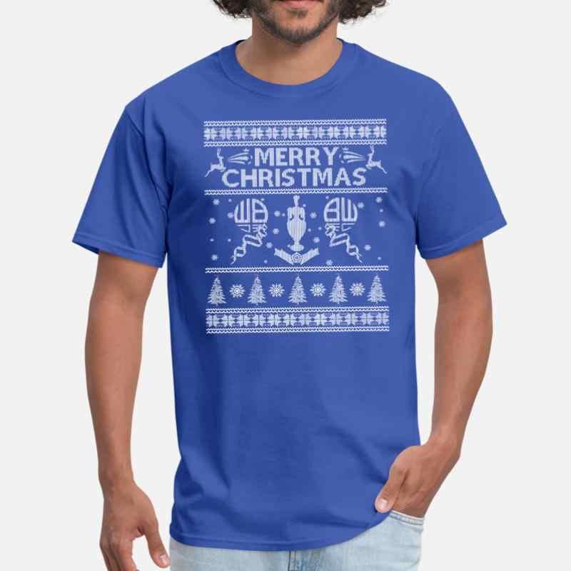 Print Lelijke Kerst Trui Voor Bw Fans Mens T Shirt Vrouwen Ronde Kraag Zomer T-shirt Man Plus Size S-5xl kleding Hip Hop