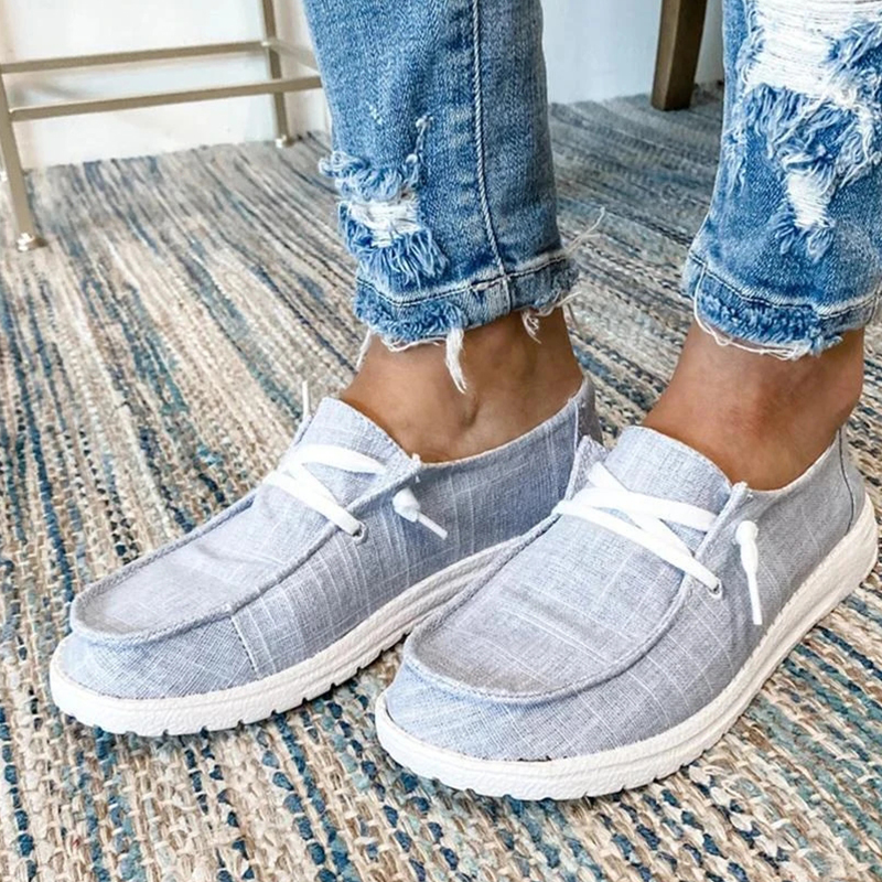 Women Casual Shoes Lace Up Canvas
