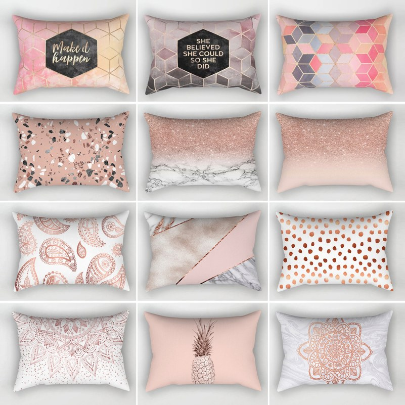 21 Styles Cushion Cover 30x50 Rectangle Pillow Case For Living Room Sofa Plush Throw Pillowcase Home Decoration Kussenhoes Decor