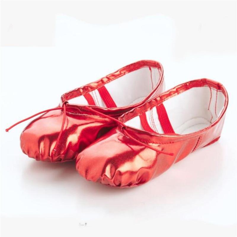 Female Soft Ballet Shoes Women Dance Shoes Pointed Slippers Gymnastics Flats Split Sole Shoes #2G29 (14)