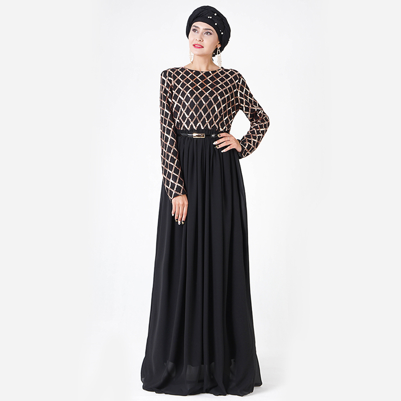 Sequin Abaya Muslim Hijab Dress Caftan Dubai Abayas For Women Turkish Dresses Moroccan Kaftan Islamic Clothing Tesettur Elbise