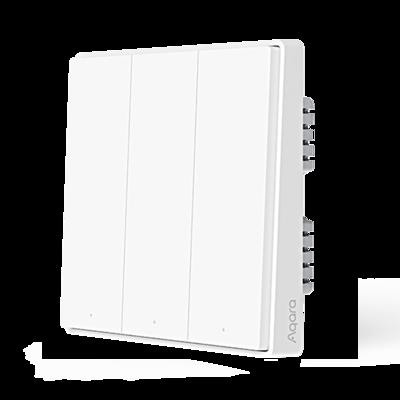 Купить с кэшбэком Aqara Smart Wall Switch D1 Zigbee Wireless Remote Control Key Light Switch Neutral Fire Wire Triple button For Mijia smart home