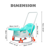 Hot 8 in 1 Folding High Chair Feeding Chair Baby Chair Booster Seat Children Adjustable Chairs Kids Highchair Seat Baby Eating S