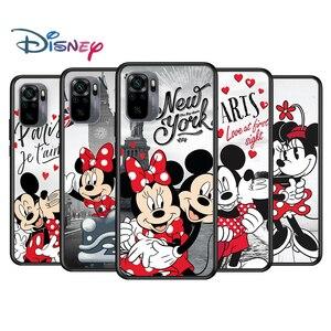 Image 1 - Mickey Minnie en Londres para Xiaomi Redmi Nota 10 10 10 10S 9 9T 9S 9Pro Max 8T 8Pro 8 7 6 5 Pro 5A 4X 4 suave negro teléfono caso