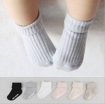 Детские носки милый мягкий, для новорожденного ребенка; для девочек и мальчиков нескользящие носки для малышей на возраст от 0 до 24 месяцев
