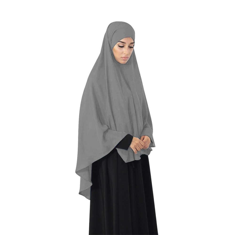 Msulim Women Khimar Hijab Scarf Amira Prayer Dress Islamic Abaya Jilbab Overhead