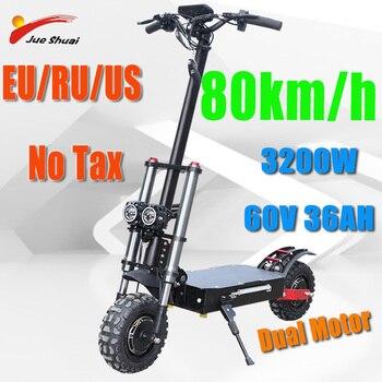 Patinete eléctrico de alta potencia para adultos, Scooter Eléctrico todoterreno de 11...