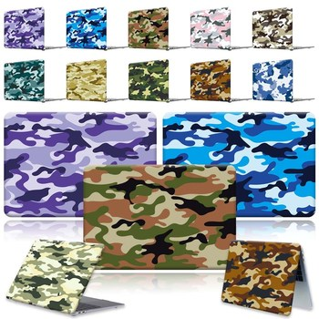 Camouflag Laptop Shell case cover For MacBook Air Pro Retina 11 12 13 15 16/13.3 A1369  A1466 Pro 16 A2141/Air A2179 A1932 forest case for macbook air 13 a1466 a1369 marble glitter clear laptop cover for macbook air 13 inch a1932 a2179 2018 2020 cases