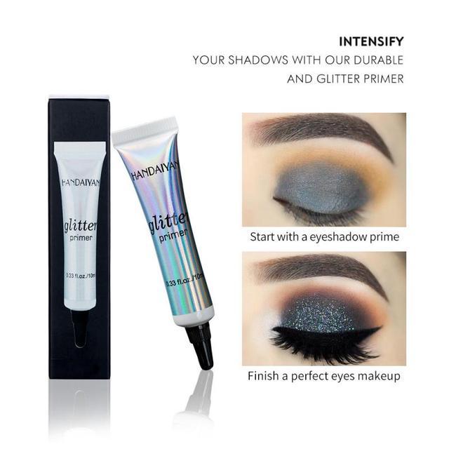 Women Eyeshadow Glitter Primer Sequined Primer Eye Makeup Cream Waterproof Sequin Glitter Eyeshadow Glue Korean Cosmetics TSLM1