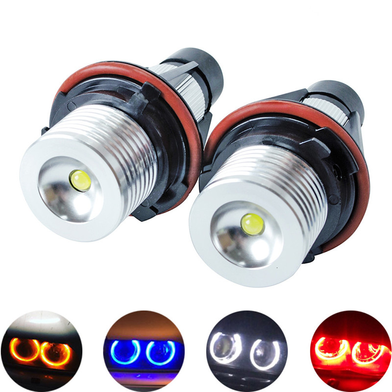 2Pcs LED Angel Eyes Marker Lights Bulbs Lamps For BMW E39 E53 E60 E61 E63 E64 E65 E66 E87 525i 530i Xi 545i M5 Error Free 2x5W