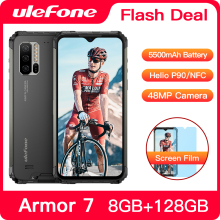 Ulefone Armor 7 IP68 Waterproof Rugged Smartphone Android 9.0 NFC Helio P90 5G WIFI 6.3'' 8GB+128GB