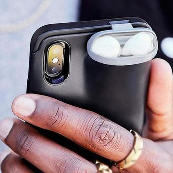 Étui Protecteur rigide Iphone 2 en 1 Avec Protection Pour Airpods