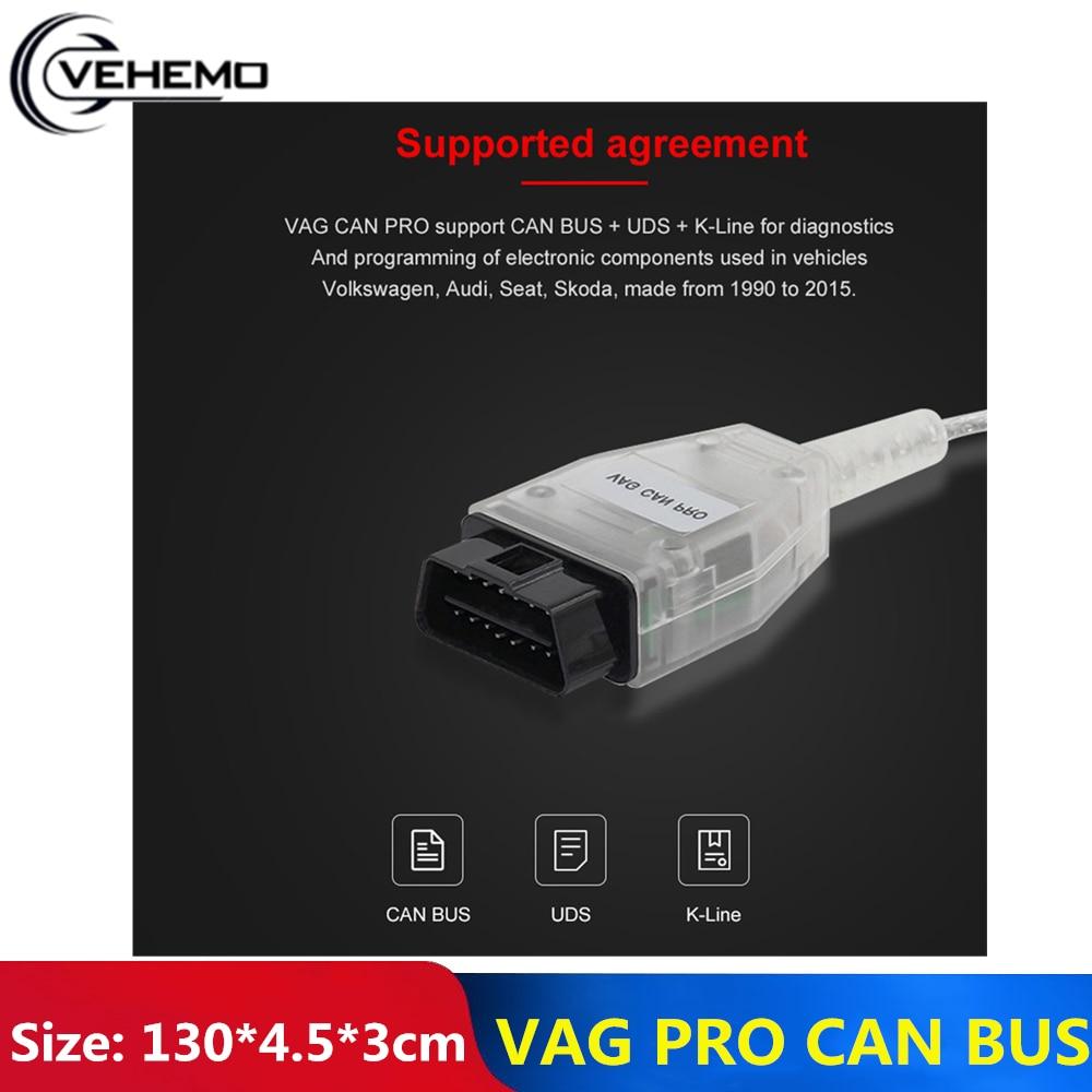 Durable Auto Diagnose Werkzeug Scanner Anschlüsse Unterstützung Können Bus Ohne Dongle VCP OBD2 BUS + UDS + K-Linie s.W Vag Com OBD2 Scanner