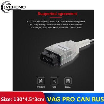 Durable Car Diagnostic Tool Scanner Connectors Support Can Bus Without Dongle VCP OBD2 BUS+UDS+K-Line S.W Vag Com OBD2 Scanner vag k can commander 1 4 obd2 диагностический инструмент сканер com кабель для audi skoda