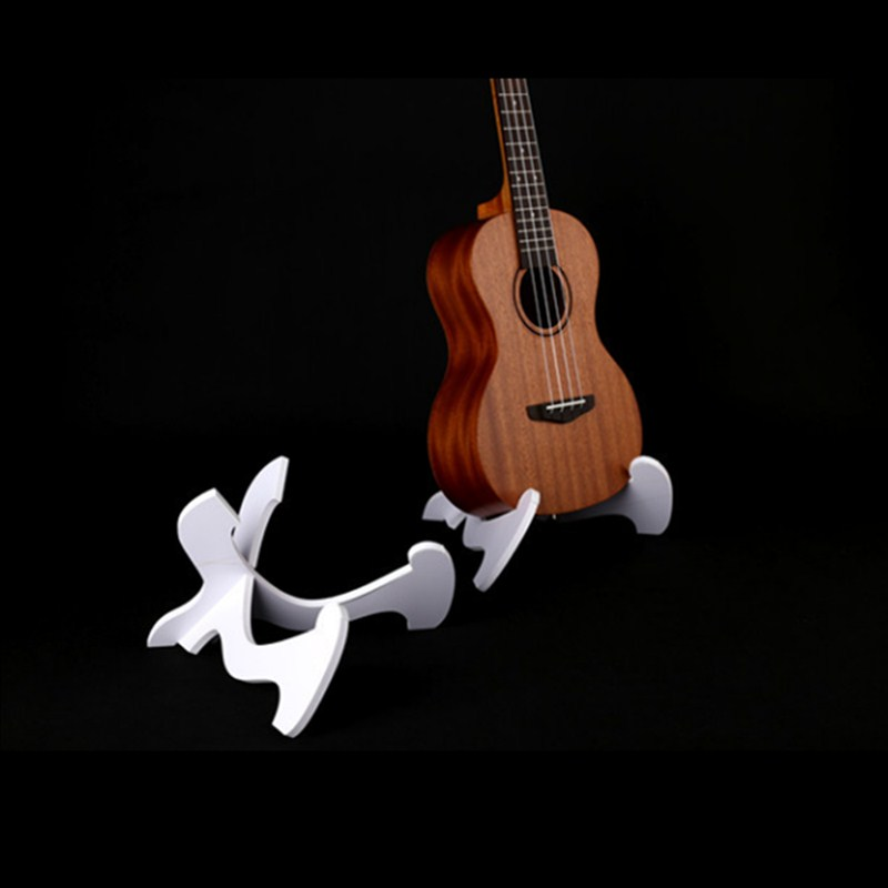 Guitar Accessories Foldable Hardwood Ukulele Bass PVC Collapsible Holder Stand Ukulele Violin Mandolin Banjo Popular Music Tool