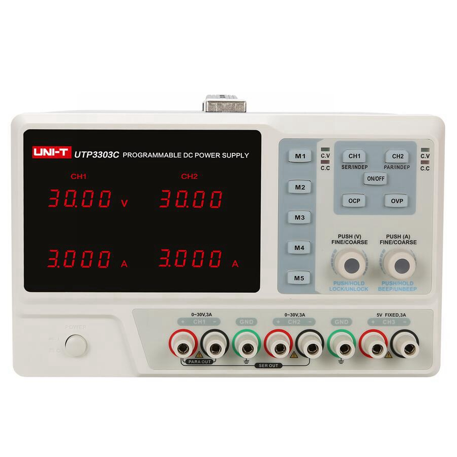 UNI-T 4-output USB Charging Programmable Linear DC Power Supply