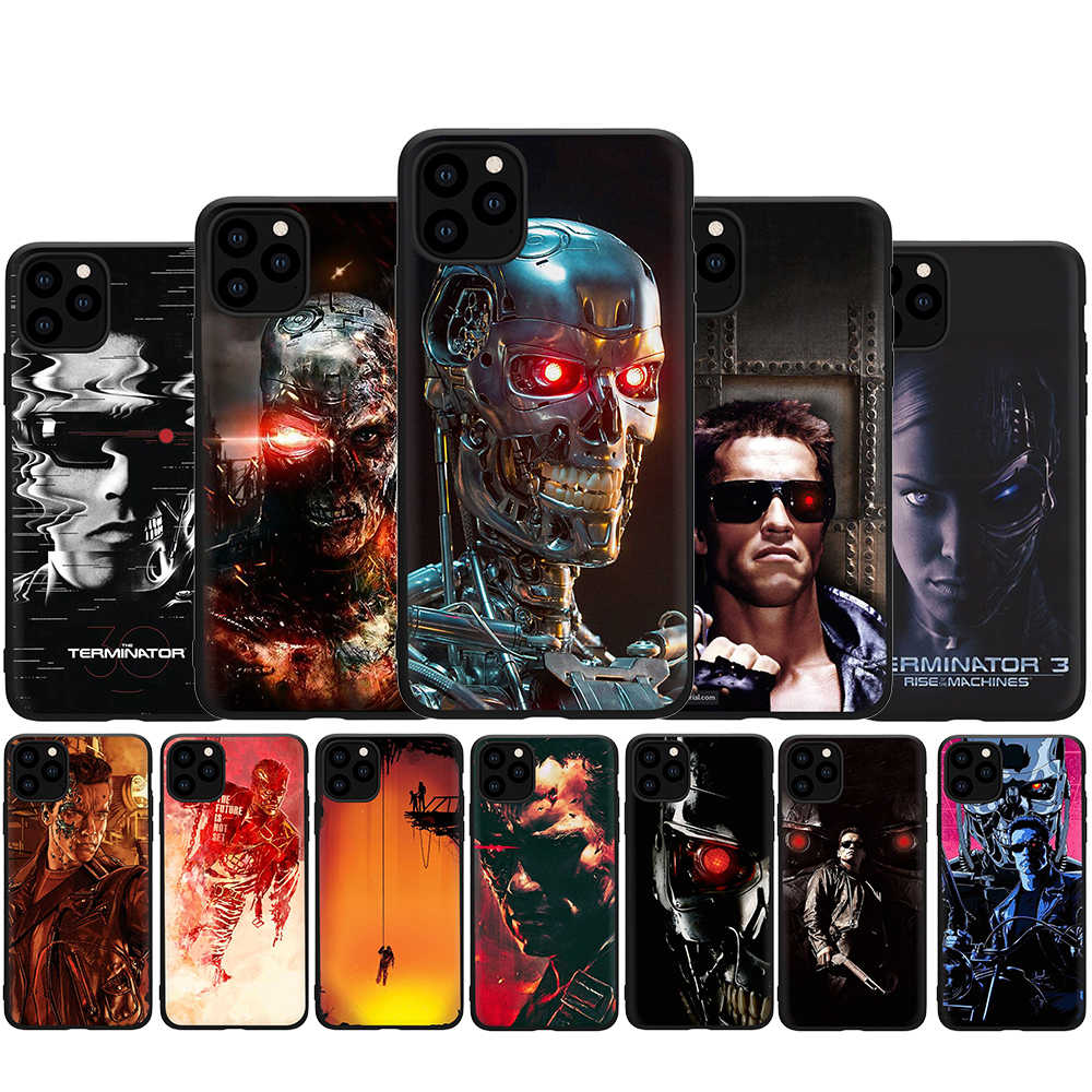 Terminator soft silicone phone cover case for iphone 5 5s SE 2020 6 6s 7 8 Plus X XR XS 11 pro Max