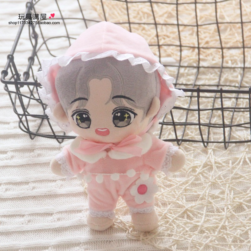 20cm Korea Kawaii Cartoon V Plush Dolls Toys Plush Stuffed Doll Superstar Cute With Clothes Toy Gifts Collection Toys Fans Gifts