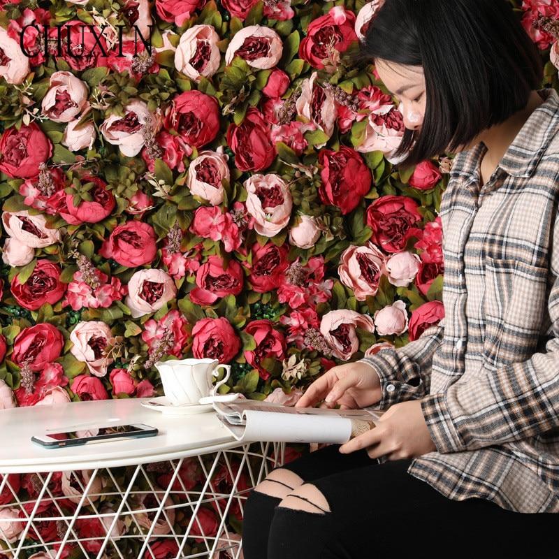 Ev ve Bahçe'ten Yapay ve Kurutulmuş Çiçekler'de Lüks ipek şakayık çiçek duvar ve gül asma yapay çiçekler düğün Arka Plan dekorasyon ev Takı Pencere çiçek 10 adet'da  Grup 1