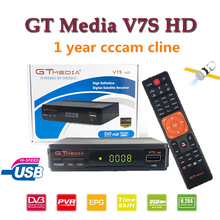2019 New Arrival GTMEDIA V7S 1080P Full HD DVB-S2 Smart TV Satellite Receiver +1 year europe Cccam 7 Cline receiver +USB WIFI