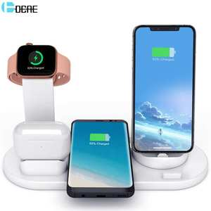 Wireless Charger Stand 3 in 1 Charging Station for Apple Watch 5432 Airpods Pro Qi Fast Charging Dock For iPhone 11 XS XR X 8