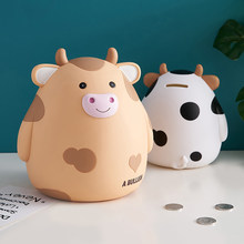Grande-capacidade lucky cow mealheiro personalizado bonito moeda mealheiro decoração de casa estante decoração de mesa caixa de poupança de dinheiro