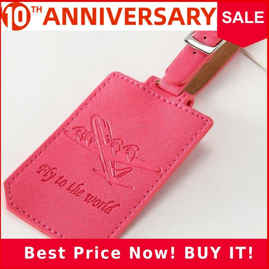 Personalized Airplane Suitcase Leather Luggage Tag Label Bag Pendant Handbag Travel Accessories Name ID Address Tags LT09A