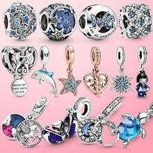 2020 novo 925 prata esterlina verão oceano série contas balançar charme caber pamura original charme pulseira jóias presente