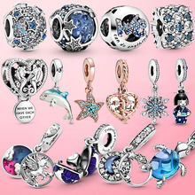 2021 New 925 Sterling Silver Summer Ocean Dreamcatcher Unicorn Beads Dangle Charm Fit Original Pandora Charm Bracelet Jewelry