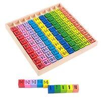 赤ちゃん木のおもちゃ 99 乗算表数学のおもちゃ 10*10 図形ブロック学習教育モンテッソーリギフト子供たちのおもちゃ