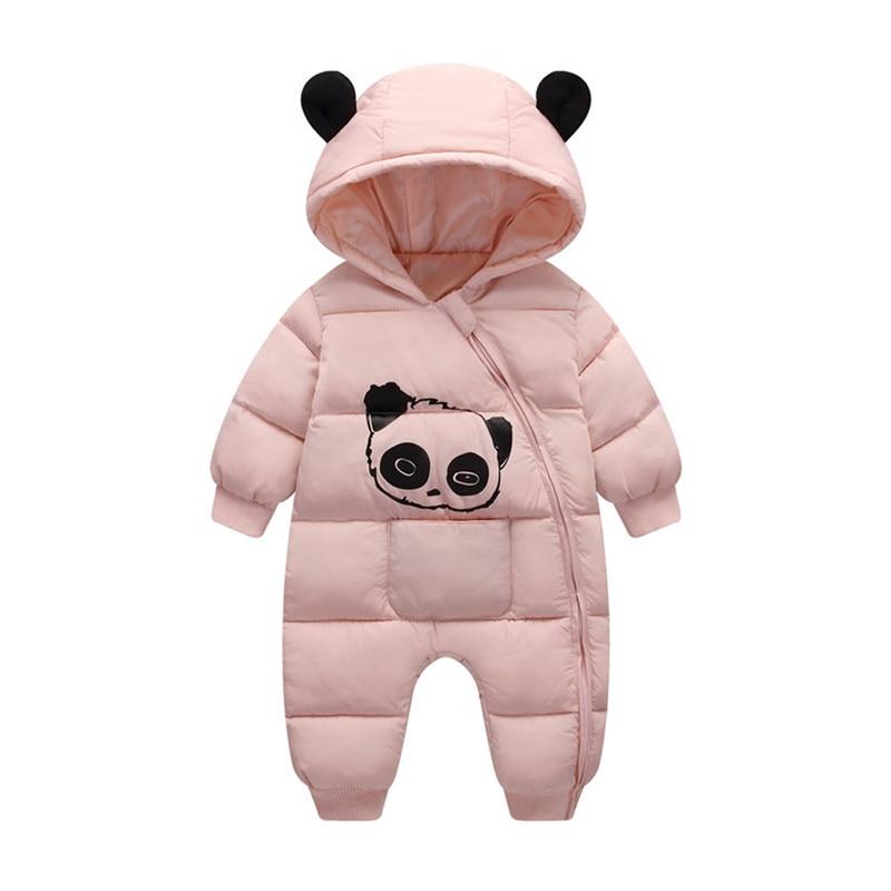 Baby jumpsuit down jacket Newborn Baby Boy Girl Cartoon Winter Warm Thick Jumpsuit Hooded Coat Outwear #4AA22 (12)