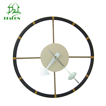 Creative Steering Wheel Large Wall Clock Metal Nodern Design Living Room Bedroom Silent Clocks Wall Home Decor Reloj Gift FZ858