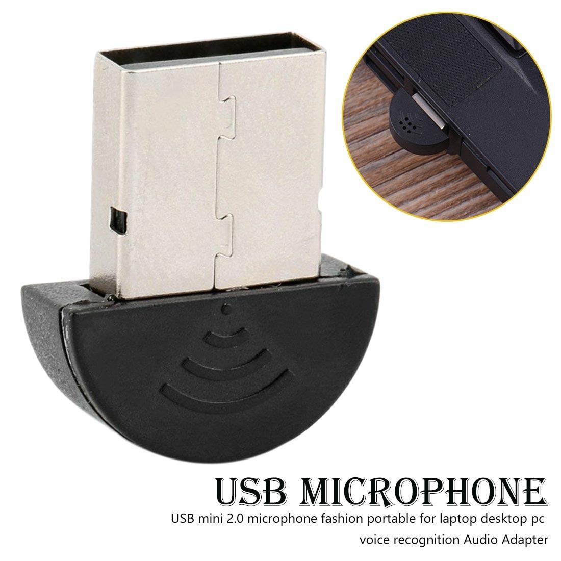 USB Microphone Mini 2.0 Fashion Portable For Laptop Desktop Pc Voice Recognition Audio Adapter Microphone Karaoke