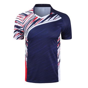 Nowe koszulki do badmintona sportowe koszulki do biegania mężczyźni kobiety siłownia koszulki tenisowe koszulki do tenisa stołowego szybkoschnące koszulki sportowe tanie i dobre opinie ZISURON Poliester Krótki Szybkie suche Oddychające Przeciwzmarszczkowy Pasuje prawda na wymiar weź swój normalny rozmiar