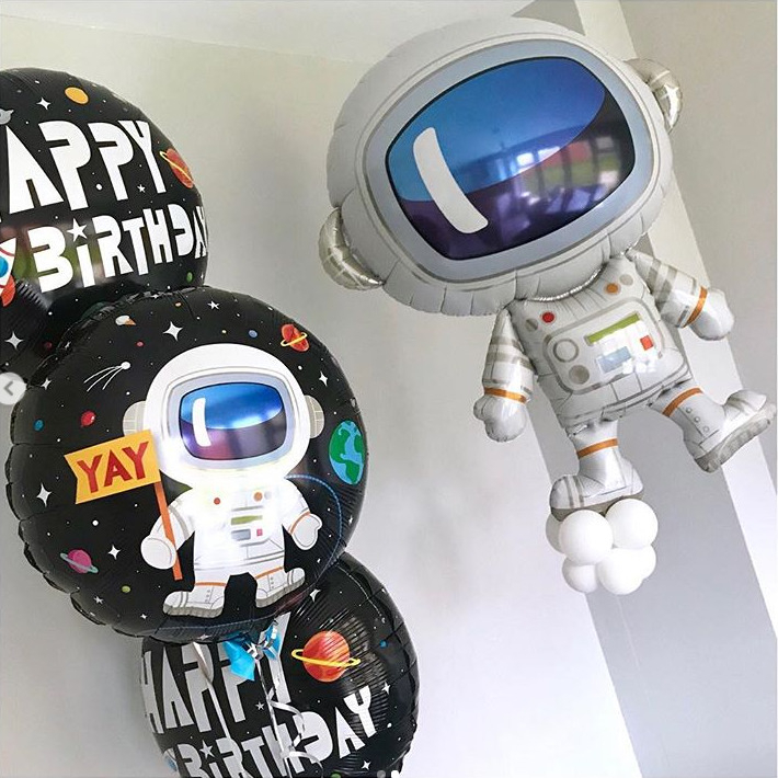 1pc 18 Inch Astronaut Balloon Space Ballons Birthday Party Decorations Kids Baby Shower Boy Helium Cool Baloes