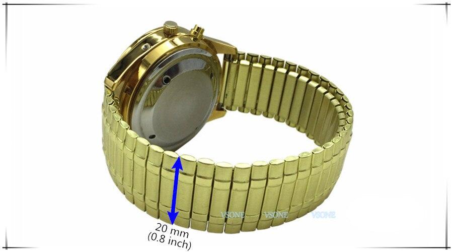 e hora, mostrador preto, expandindo pulseira TAF-802