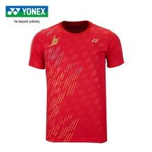 Подлинная Yonex кофта для бадминтона Lin Dan стиль спортивные футболки с коротким рукавом для мужчин 16419ldcr