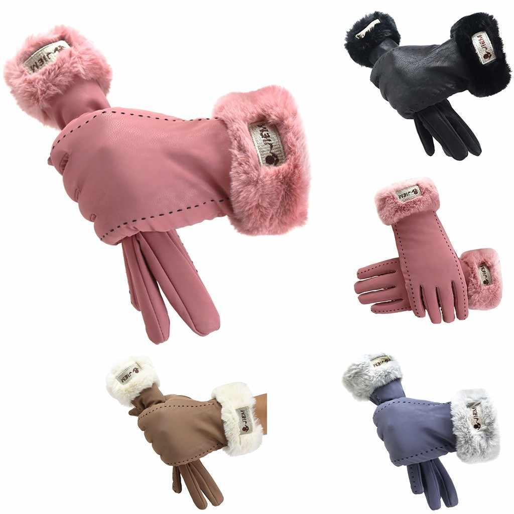 Nieuwe Vrouwen Handschoenen Winter warm handschoenen Volledige Vinger outdoor vrouwelijke Wanten Vrouwen Outdoor Sport Vrouwelijke Handschoenen Screen Luva