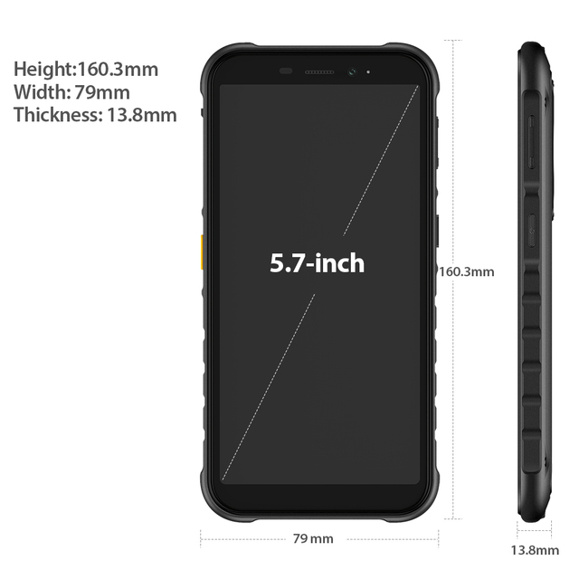 Ulefone Armor X8 Rugged Waterproof Smartphone Android10 5.7-inch Cell Phone 4GB 64GB  ip68 Octa-core  NFC 4G LTE Mobile Phone 4