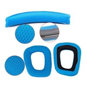 Image 2 - Blue Replacement Headband Cushion Pad Headband Pads Earpad for Logitech G430 G930